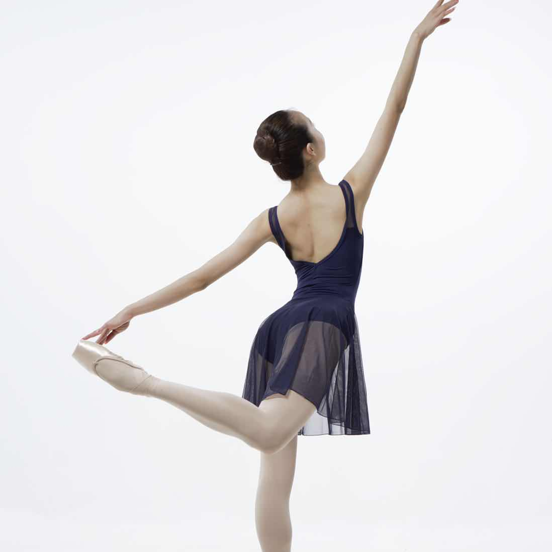 スカート付レオタードネイビーブルーFL3001