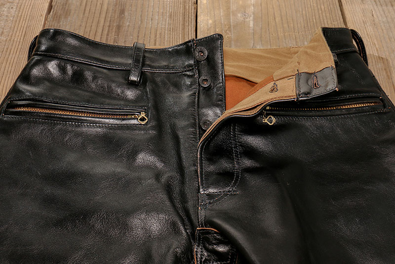 PADDED LEATHER PANTS (HORSE HIDE)