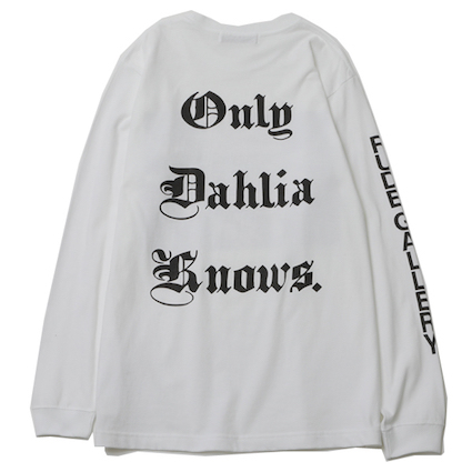 Only Dahlia Knows. LS TEE (WHITE)