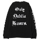 Only Dahlia Knows. LS TEE (BLACK)
