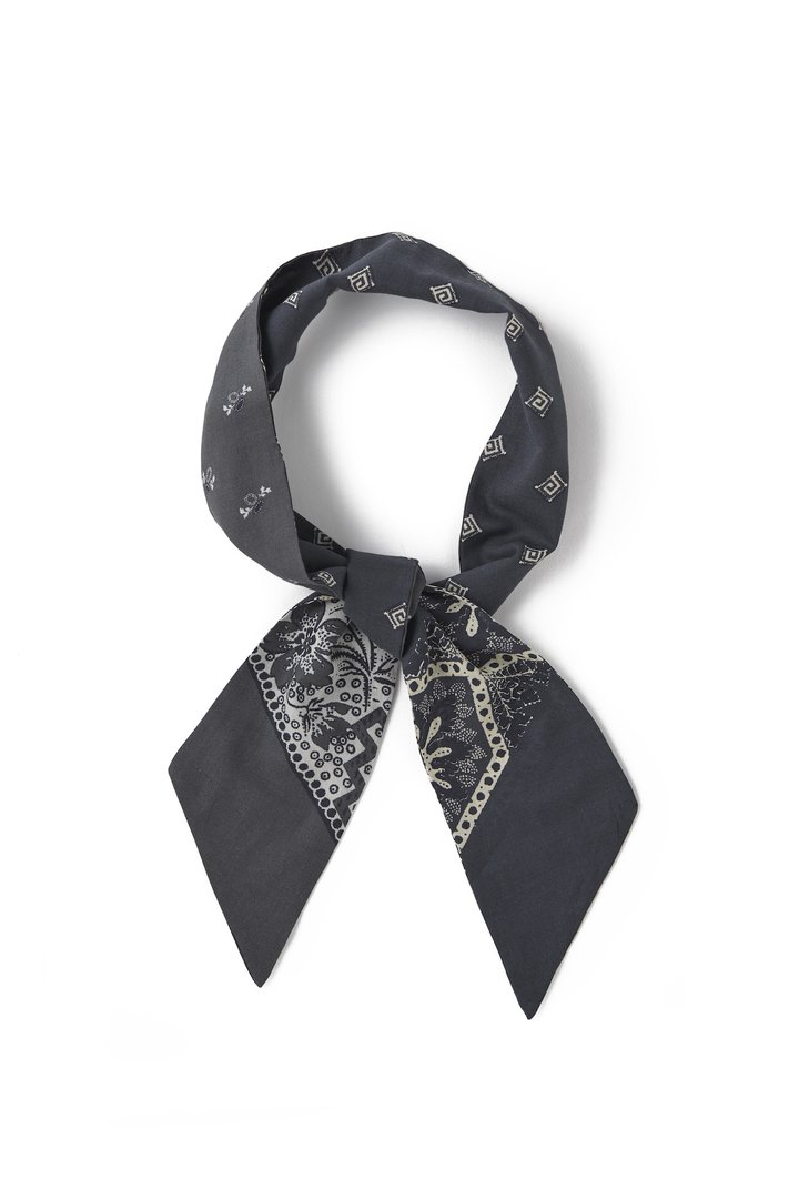 COTTON/WOOL SCARF TIE (PEWTER)