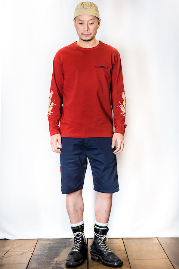 LONG-SLEEVE T-S<DRAGON>(RED)