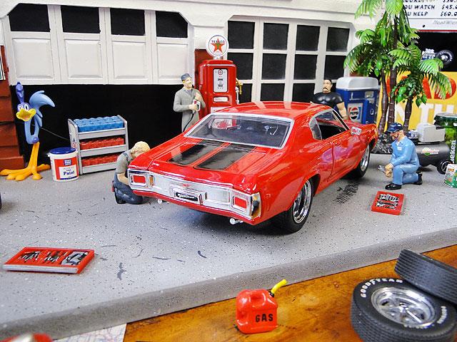 Jada 映画「ワイルドスピード」のダイキャストモデルカー 1/24スケール(ドム/シェビー・シェベルSS1970レッド)
