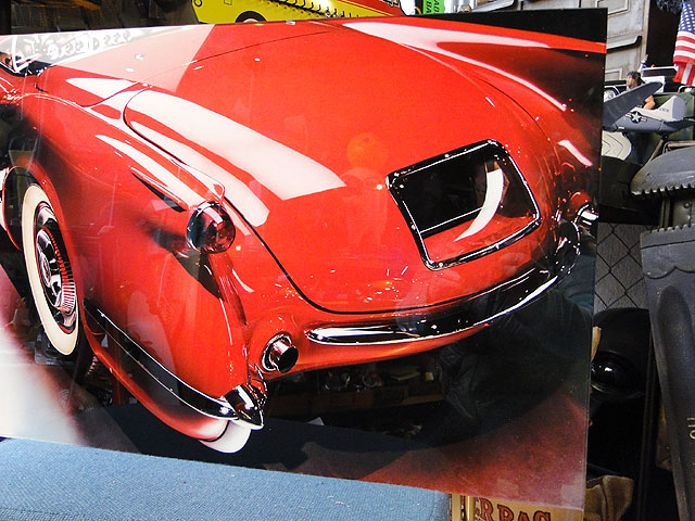 アメリカンクラシックカーのグラスアート(コルベット/リアカット)