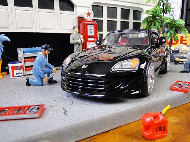 Jada 映画「ワイルドスピード」のダイキャストモデルカー 1/24スケール(ジョニー/ホンダS2000)