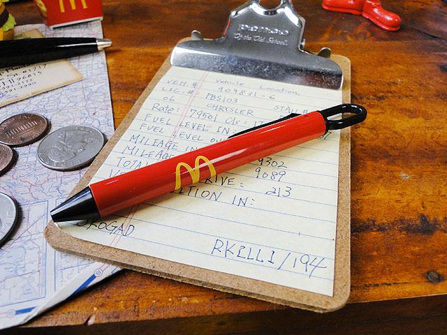 マクドナルドのリングフックペン