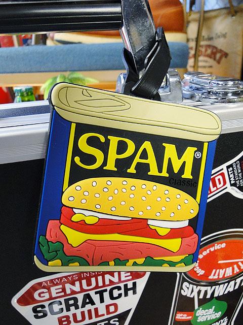 スパム缶のラゲッジタグ