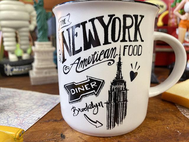 ニューヨークダイナーのホーロー風レトロマグ