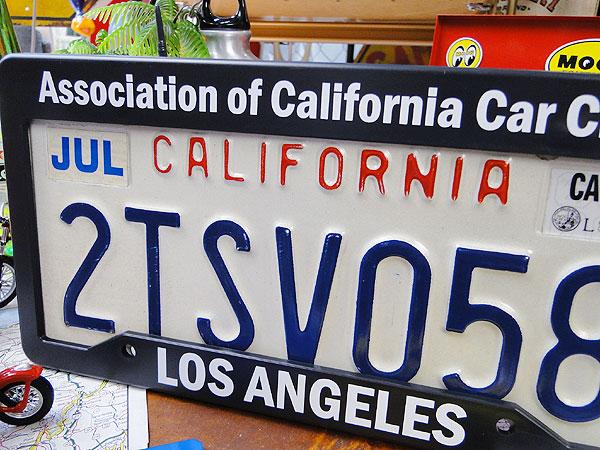 カリフォルニア州のUSEDナンバープレート(フレーム付き/ブラック)