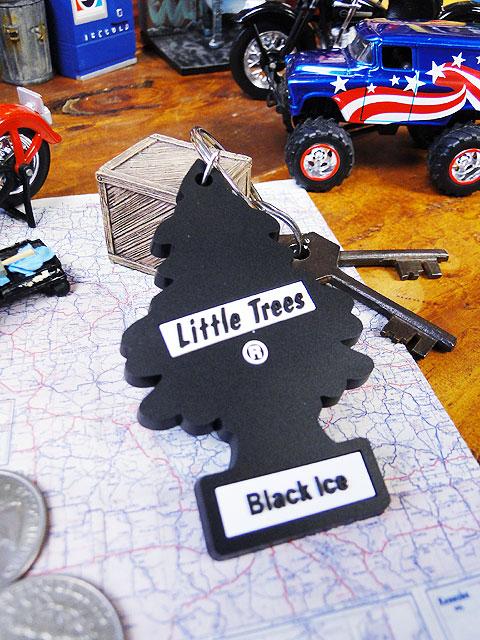 リトルツリーのラバーキーリング(ブラックアイス)