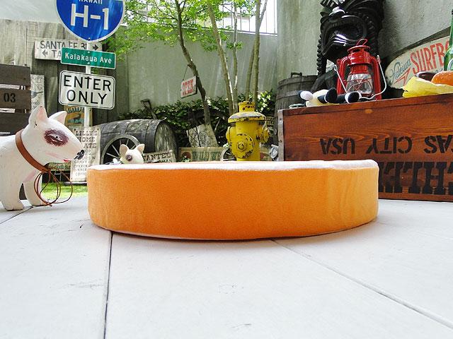 おいしそーなフルーツのフロアークッション(オレンジ)