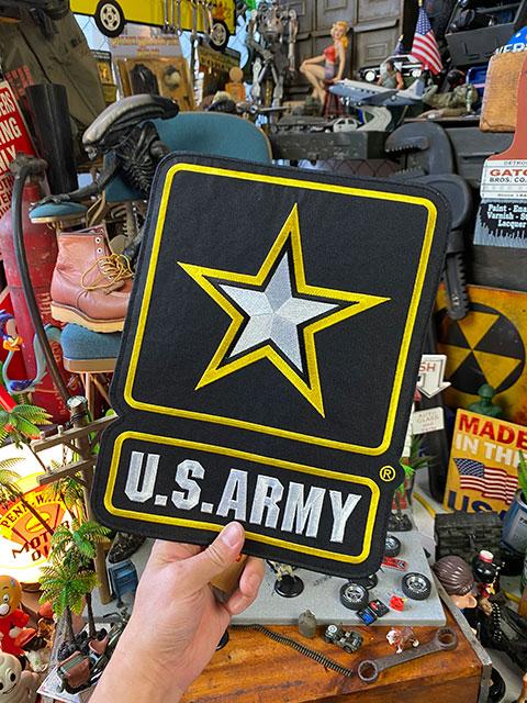 U.S.アーミーのミリタリーワッペン(XLサイズ/NEWロゴ)