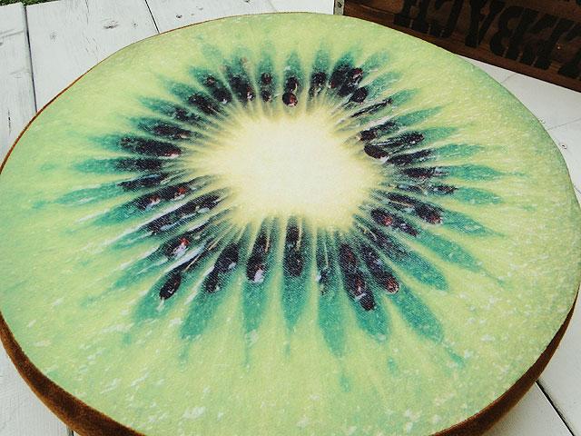 おいしそーなフルーツのフロアークッション(キウイ)