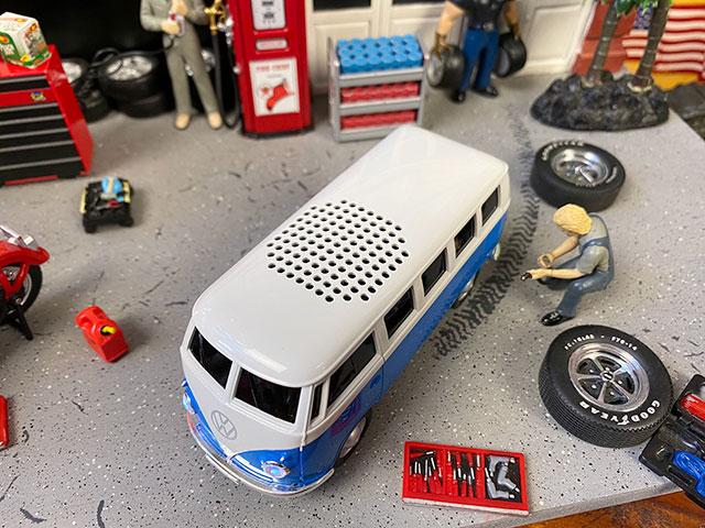 ワーゲンバスのBluetoothワイヤレススピーカー(ブルー)