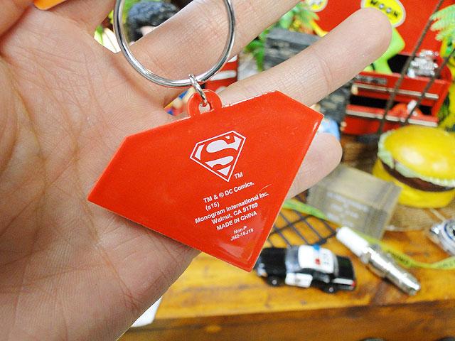 スーパーマンロゴのラバーキーリング