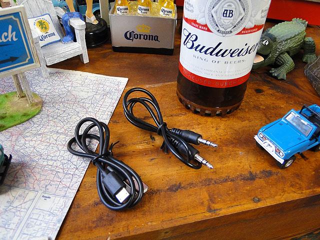 バドワイザーのビアボトル型ワイヤレススピーカー Bluetooth接続
