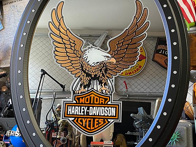 ハーレーダビッドソン ハーレーイーグルのガレージミラー
