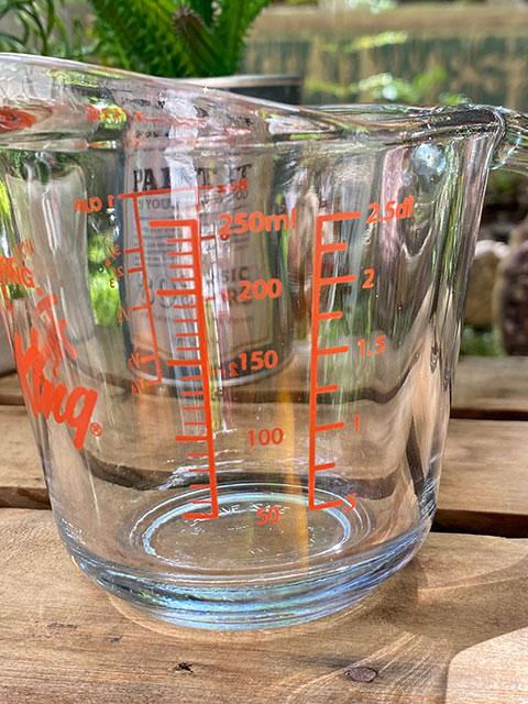 ファイヤーキング メジャリングカップ 250ml 計量カップ ガラス製 アメリカ アンカーホッキング社