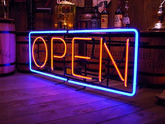 オープンのネオン管(LLサイズ)