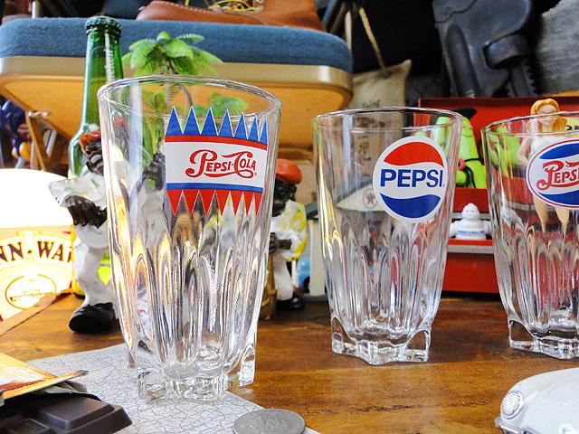 ペプシコーラの歴代ロゴグラス 4個セット