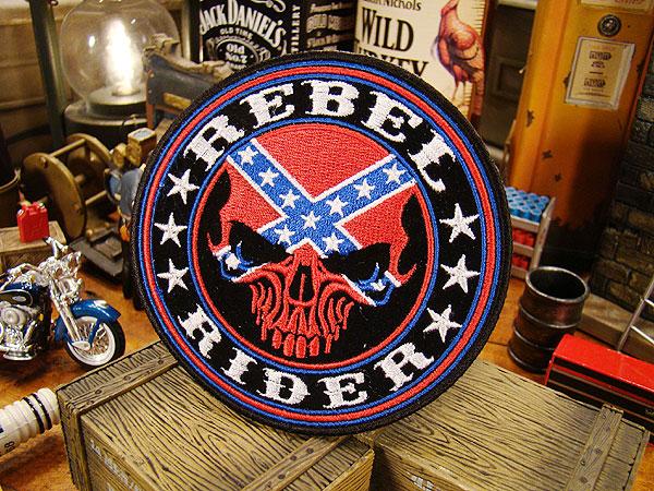 アメリカンバイカーズワッペン(Rebel Rider Skull)