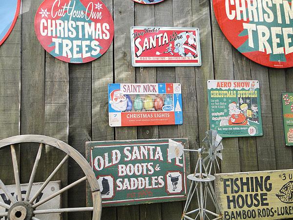 クリスマスのU.S.ヘヴィースチールサイン(クリスマスライト)
