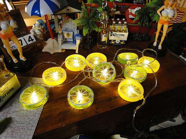 レモン&ライムの10連パーティーライト(単三電池式)