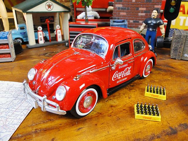 コカ・コーラ 1966年フォルクス・ワーゲン ビートルのダイキャスモデルカー 1/24スケール