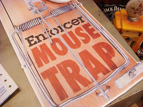 アメリカのねずみ取りのマウスパッド