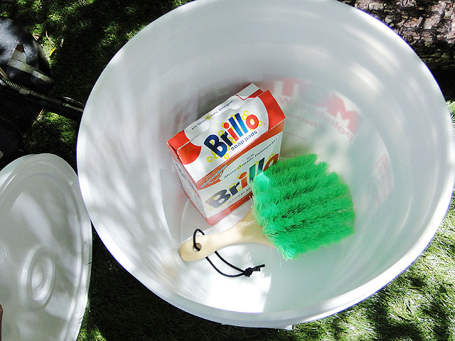 マザーズの洗車バケツ