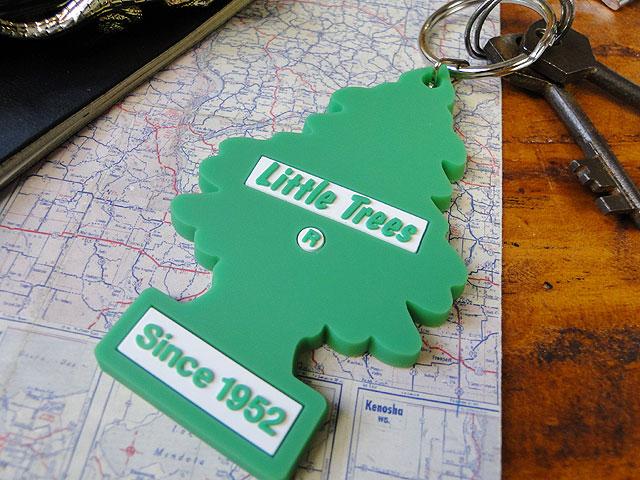 リトルツリーのラバーキーリング(グリーンシンボル)