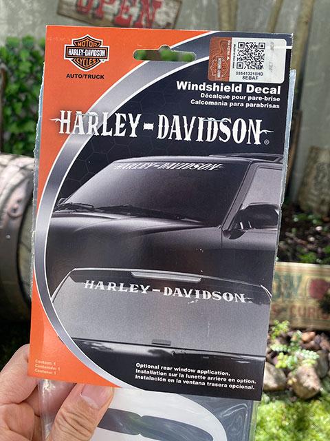 ハーレーダビッドソン オフィシャルステッカー 車用ウィンドウデカール(デザインB)