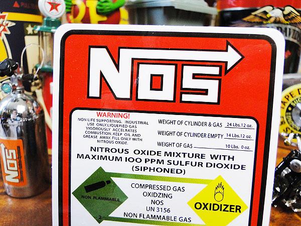 NOSのニトロボンベステッカー