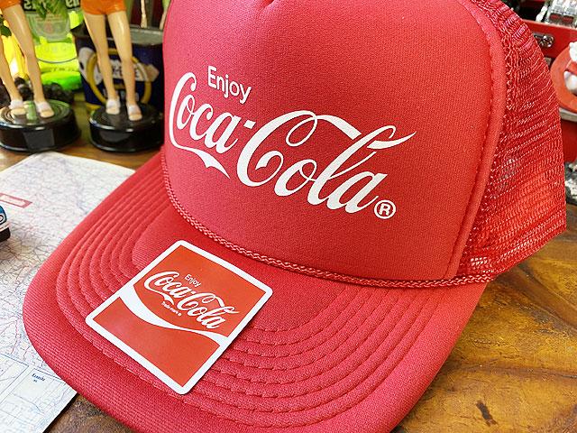 コカ・コーラのメッシュキャップ(レッド)