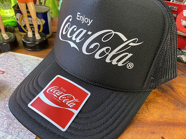コカ・コーラのメッシュキャップ(ブラック)