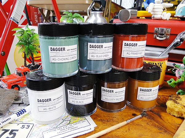 サビサビ塗装用のオリジナル塗料7色フルセットたっぷりサイズ(100ml)