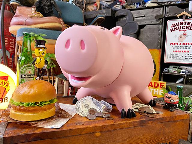 映画「トイ・ストーリー」ハムのラージビニールピギーバンク 貯金箱