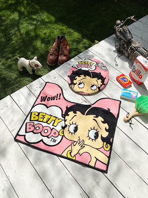 ベティ・ブープのトイレカバー&マット2点セット(ピンク)
