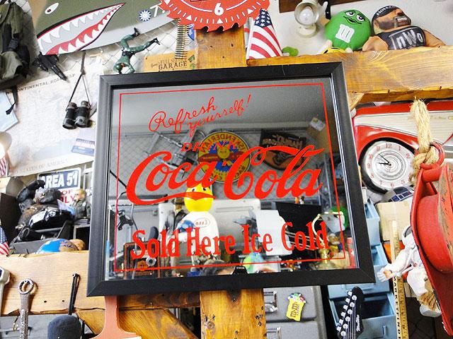 コカ・コーラパブミラー(SOLDHEREICECOLD)