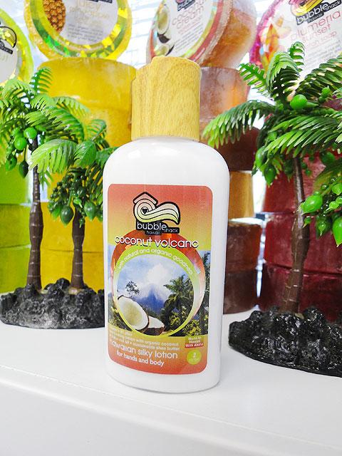 ハワイのセレブ達も愛用するオーガニック・ボディローションバブルシャックシルキーボディローション(ココナッツボルケーノ)