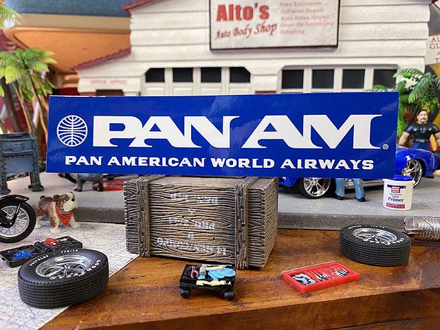 パンナムのオフィシャルステッカー(ロング/PA-52)