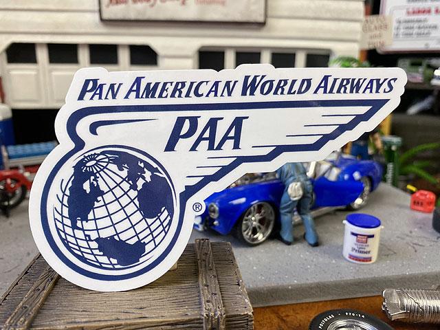 パンナムのオフィシャルステッカー(ウイングロゴ/PA-58)