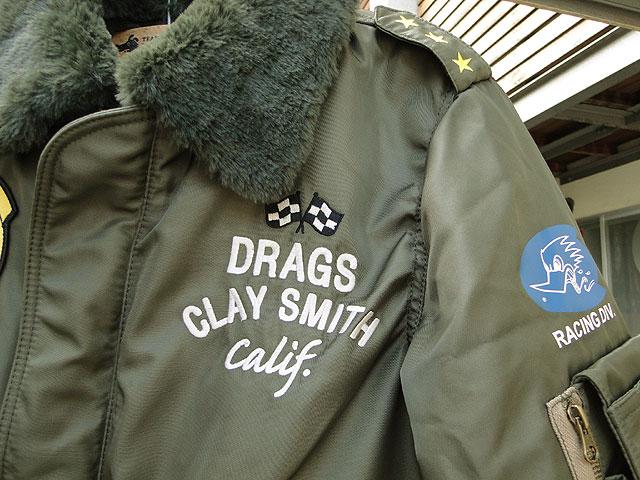 クレイスミスのフライトジャケット(カーキ)
