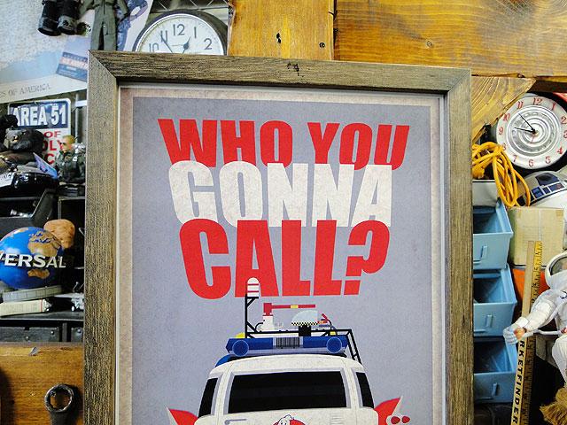 ポスターフレーム(ゴーストバスターズ/WHO YOU GONNA CALL?)