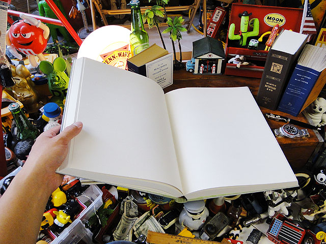 洋書みたいなノートブック ツールズラフノート(XLサイズ/ライトグリーン/百科事典タイプ)