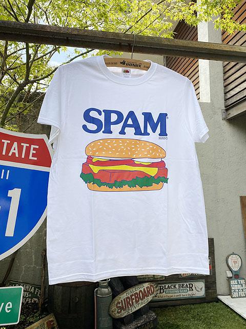 スパムのオフィシャルTシャツ(スパムバーガー)