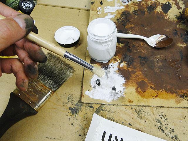 サビサビ塗装用のオリジナル塗料単色(ホワイト)50mlサイズ