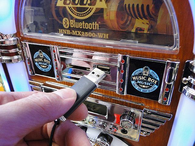 オールディーズジュークボックスCDプレーヤーBluetooth搭載iPhone/iPad/iPod/各種スマホ対応(ブルー)