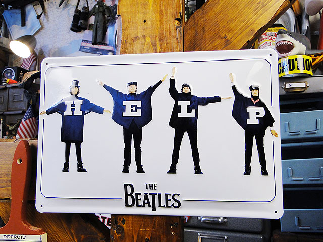 ビートルズの3Dメタルサイン(ビートルズ/ヘルプ)