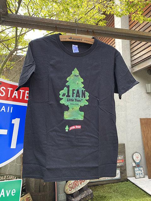 リトルツリーの限定オフィシャルTシャツ(#1 FAN/ブラック)